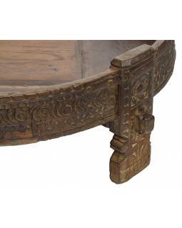 Kulatý stolek z mangového dřeva, 77x77x32cm