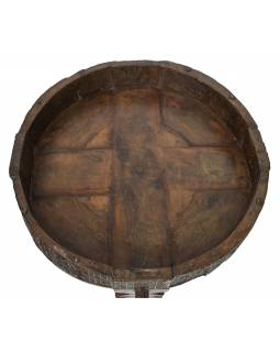 Kulatý stolek z mangového dřeva, 74x74x29cm