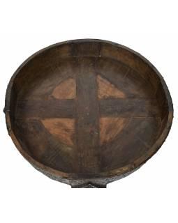 Kulatý stolek z mangového dřeva, 82x82x32cm