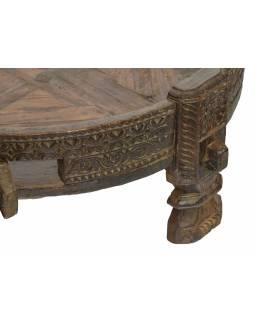 Kulatý stolek z mangového dřeva, 84x84x32cm