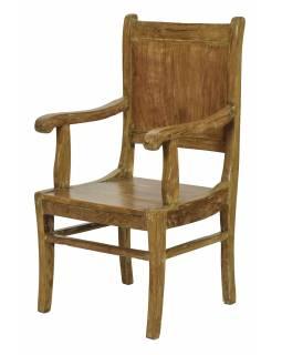 Stará židle z teakového dřeva, 52x50x100cm