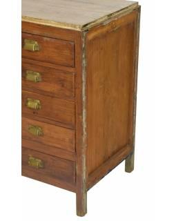Šuplíková komoda z teakového dřeva, 85x47x80cm