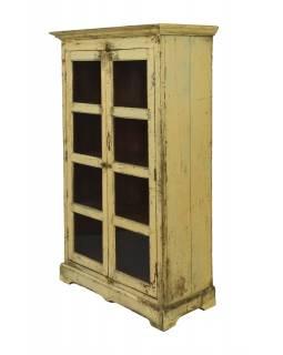 Prosklená skříňka z teakového dřeva, 101x48x169cm