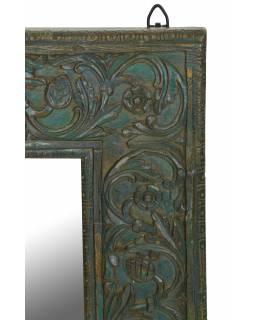 Zrcadlo v rámu z teakového dřeva,ručně vyřezávané, 55x3x89cm