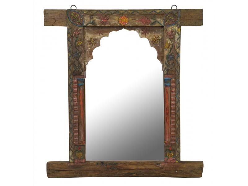 Zrcadlo v rámu z teakového dřeva, 88x9x94cm