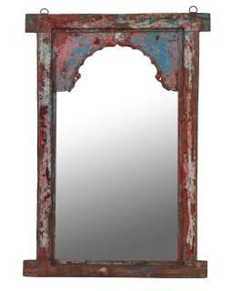 Zrcadlo v rámu z teakového dřeva, 74x6x105cm