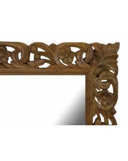 Ručně vyřezávané zrcadlo z mangového dřeva, 90x4x120cm
