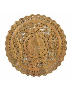 Ručně vyřezaná mandala z mangového dřeva, průměr 120cm