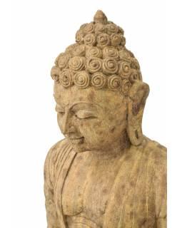 Pískovcová socha z Orissi, Buddha, 55x43x93cm