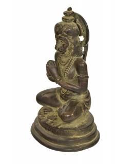 Hanuman, mosazná socha, 13x10x19cm