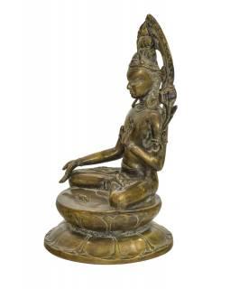 Bílá Tára, mosazná socha, 20x20x33cm