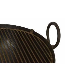 """Kovová mísa/ohniště """"Kadai"""" s roštem na stojanu, 67x67x56cm"""