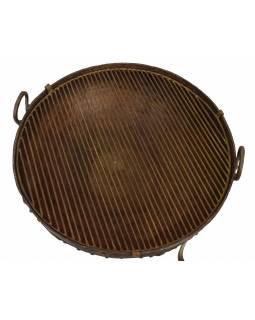 """Kovová mísa/ohniště """"Kadai"""" s roštem na stojanu, 78x78x56cm"""