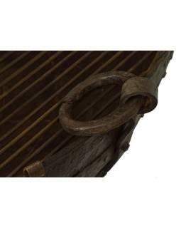 """Kovová mísa/ohniště """"Kadai"""" s roštem na stojanu, 95x95x60cm"""