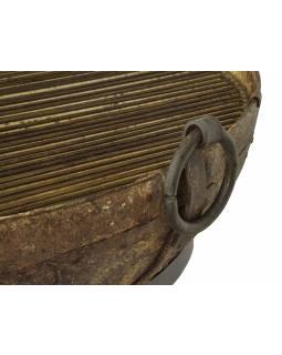 """Kovová mísa/ohniště """"Kadai"""" s roštem na stojanu, 114x114x60cm"""