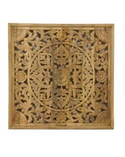 Ručně vyřezaná mandala z mangového dřeva, 95x95x5cm