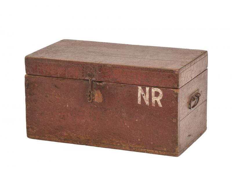 Stará truhlička z teakového dřeva, 46x25x24cm