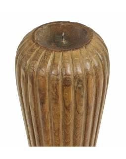 Dřevěný svícen ze starého teakového sloupu, 15x15x50cm