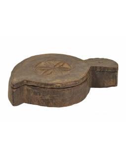Krabička na Tiku, stará původní krabička na práškové barvy, 20x12x5cm