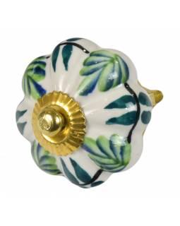 Malované porcelánové madlo na šuplík, průměr 4,5 cm