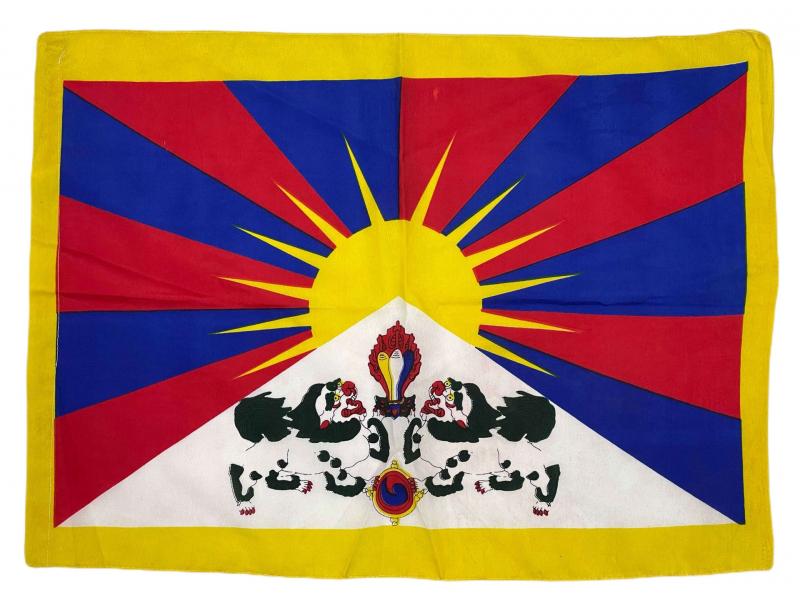 Vlajka Tibet, screen print, tunýlek pro tyčku 50x35cm