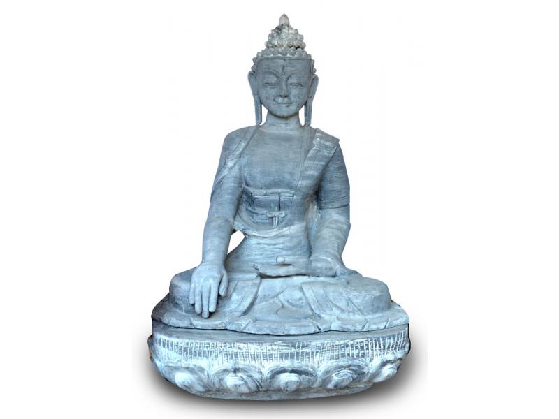 Velká keramická socha Buddha Šákjamuni, mramorová úprava, 150cm