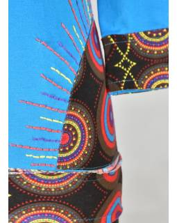 """Tyrkysové tričko s tříčtvrtečním rukávem """"Geometric Mandala"""" design"""