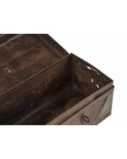 Stará kovová truhlička, 43x15x13cm