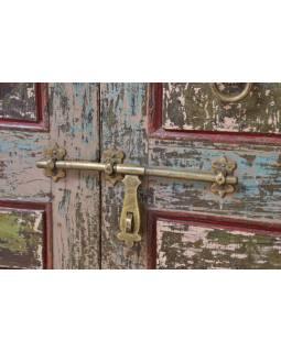 Antik dveře s rámem z Gujaratu, teakové dřevo, 165x14x220cm