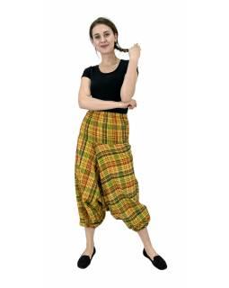 Turecké kalhoty, žluté, pružný pas