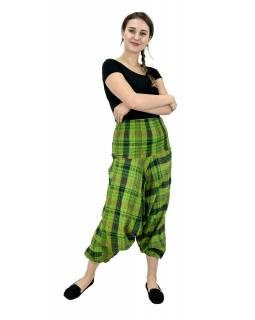 Turecké kalhoty, zelené, pružný pas