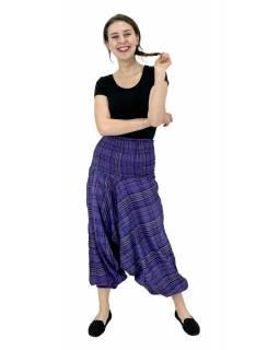 Turecké kalhoty, fialové, pružný pas