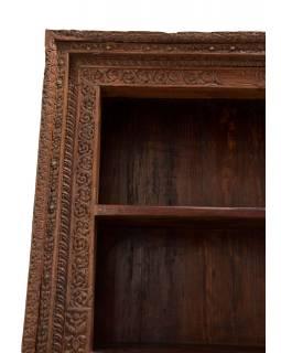 Knihovna ze starého portálu, teakové dřevo, 140x40x211cm