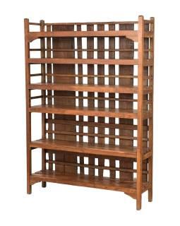 Regál z teakového dřeva, 121x30x170cm