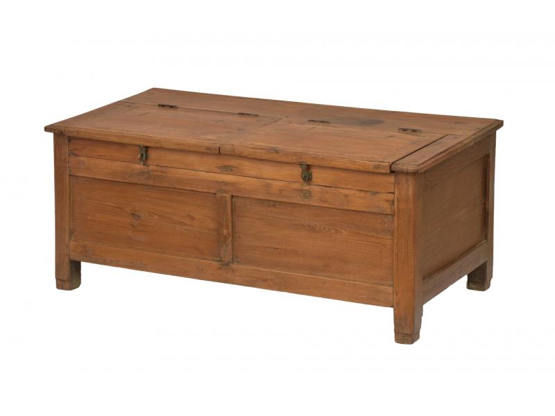 Starý kupecký stolek z teakového dřeva, 91x45x39cm