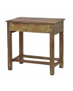 Stolek z teakového dřeva, zelená patina, 76x44x75cm