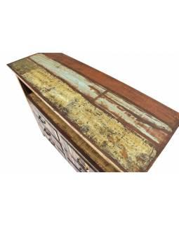 """Komoda z antik teakového dřeva v """"Goa"""" stylu, 127x45x107cm"""