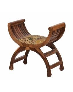 Stolička, čalounění, palisandr