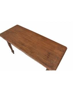 Starý stůl z tekového dřeva, 140x50x77cm
