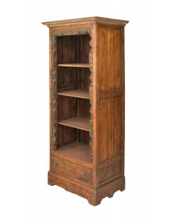 Knihovna z teakového dřeva, 80x50x186cm