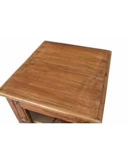 Komodka se šuplíky z teakového dřeva, 44x48x112cm