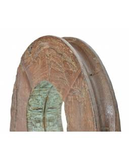 Zrcadlo v rámu z teakového dřeva, 62x10x62cm