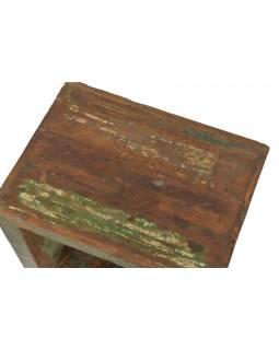 Noční stolek z teakového dřeva, 48x36x48cm