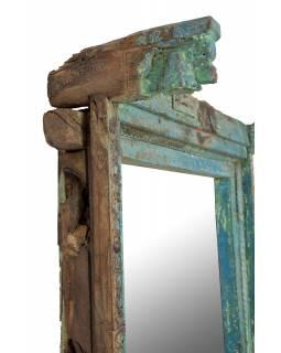 Zrcadlo v rámu ze starého teakového dřeva, 107x30x190cm