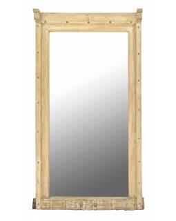 Zrcadlo v rámu ze starého teakového dřeva, 100x28x156cm