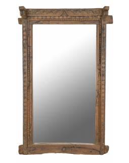 Zrcadlo v rámu ze starého teakového dřeva, 98x28x181cm