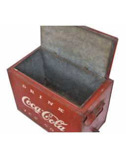 """Plechová chladnička, antik, """"Coca Cola"""", 44x24x34cm"""
