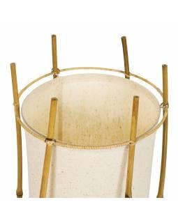 Stojací lampa/stínidlo z bambusu a látky, 25x25x80cm