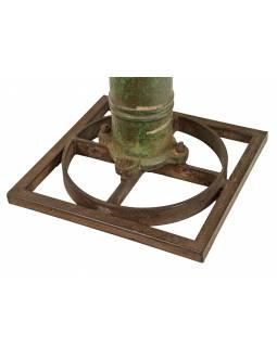 Stolek z teakového dřeva a litinové pumpy,, 50x50x50cm