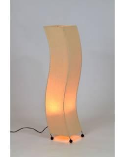 Stojací lampa/stínidlo z režné látky, 24x20x100cm